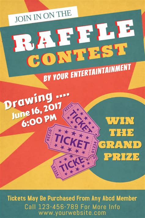 raffle poster templates raffle flyer poster social media post template contest