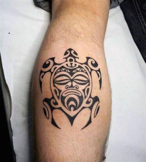 tribal calf tattoo designs 10 best images on tribal turtle tattoos