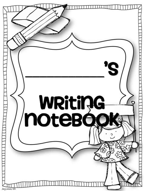 writing notebook cover pdf writing