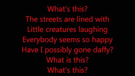 danny elfman what s this lyrics what s this the nightmare before christmas danny elfman