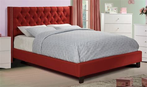 f9372 bedroom set by w fabric upholstered bed