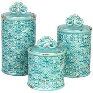 Teal Kitchen Canisters These Set Needs To Be In My Kitchen Teal Kitchen