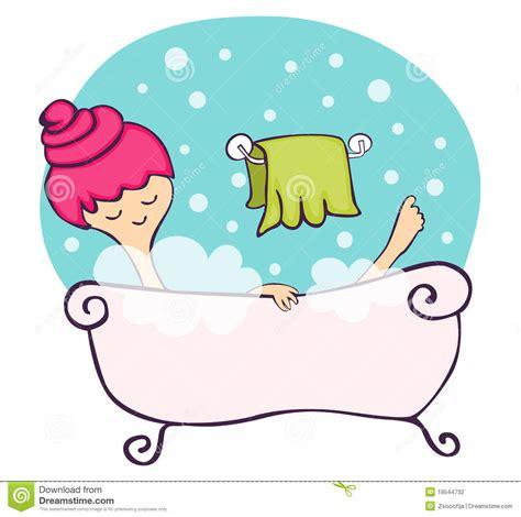 nella vasca da bagno nella vasca da bagno illustrazione vettoriale