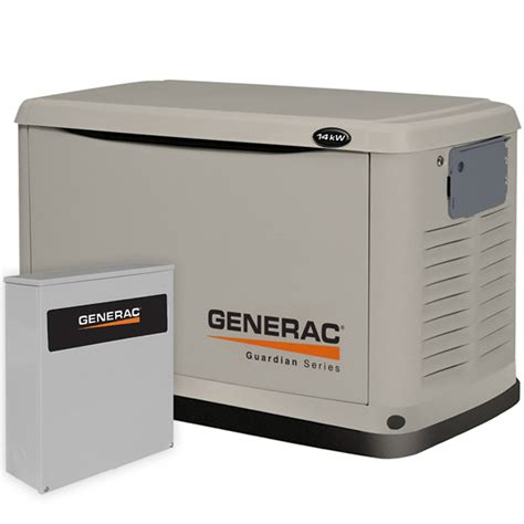 generac guardian 14kw standby generator system 200a