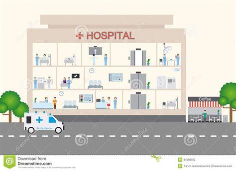 flat layout photography hospital infographic flat design stock photography