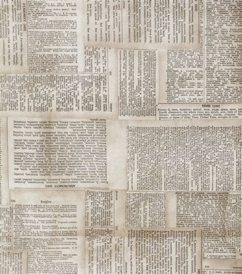 tim holtz cotton fabric dictionary neutral jo