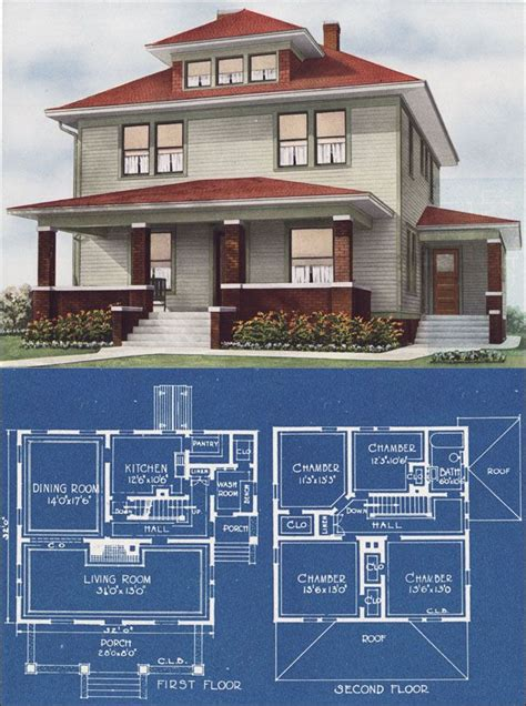 four square house plans only best 25 ideas about foursquare house on pinterest craftsman style homes