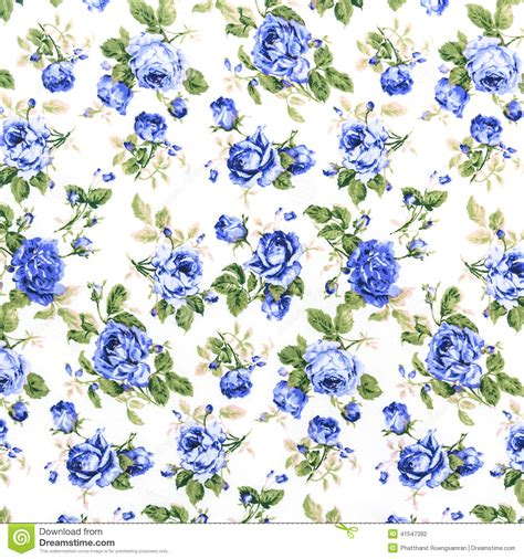 blue rose fabric background fragment of colorful retro