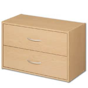 stacking two drawer storage chest alder in storage cubes