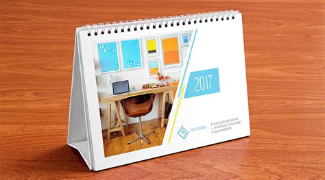 Table Calendar Table Calendar Design Template And Mock Up Psd 2017