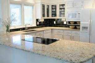 Granite Countertops With White Kitchen Cabinets by Granite Countertops Projects Page