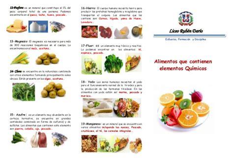 alimentos q tienen proteinas brochure alimentos que contienen elementos qu 237 micos