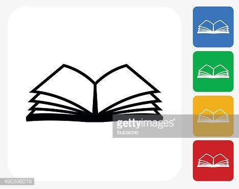 graphics design learning books book icon flat graphic design vector art getty images