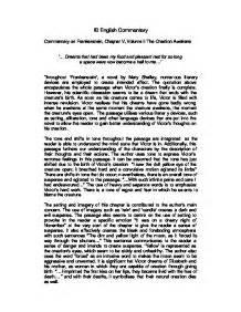 analysis of frankenstein volume 1 commentary on frankenstein chapter v volume i the