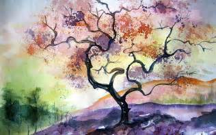 watercolor tree painting 1920x1200 12366 hd wallpaper res