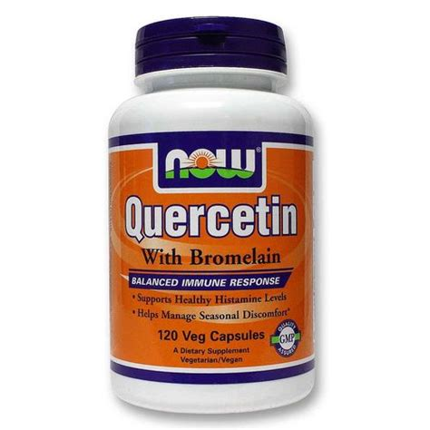 Quercetin Liver Detox by Now Foods Quercetin With Bromelain 120 Vcapsules