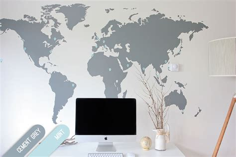 map of the world stickers for walls 7 x 4 ft world map decal large world map vinyl wall