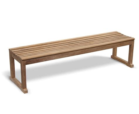 backless garden benches westminster teak backless 6ft garden bench sports bench