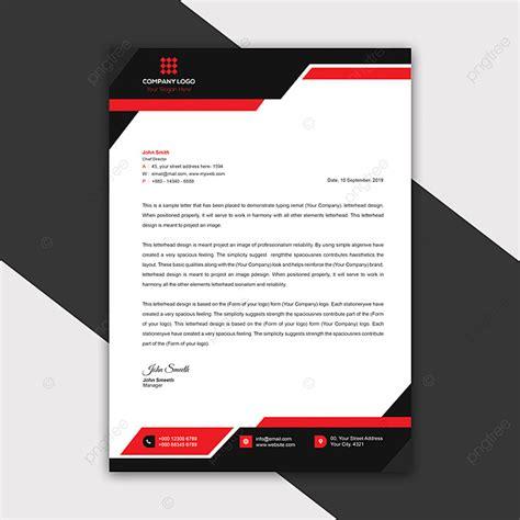 modern company letterhead template template
