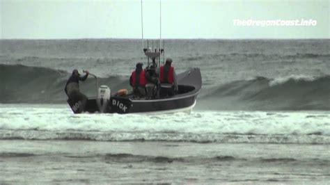 dory boat oregon dory boat launch in pacific city oregon youtube
