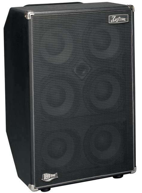 de610h end cabs bass kustom speaker cabinet with 6 x