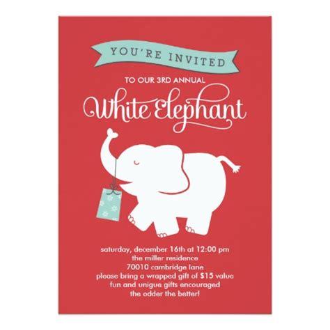 santa lady white elephant poem white elephant gift exchange invitation card