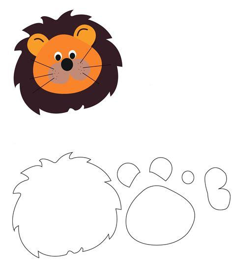 molde para goma eva de leon viseras de animalitos manualidades para ni 241 os