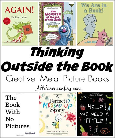 thinking in pictures book thinking outside the book creative meta picture books