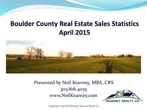 Real Estate Cohort Gmatclub Mba by Boulder County Real Estate April 2015 Statistics