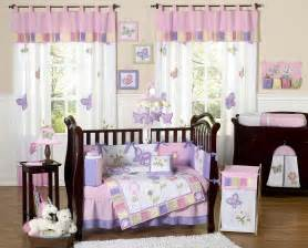 pink purple butterfly baby bedding set 9pc