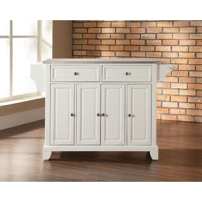 Kitchen Island With Stainless Steel Top Crosley Newport Kitchen Island With Stainless Steel Top
