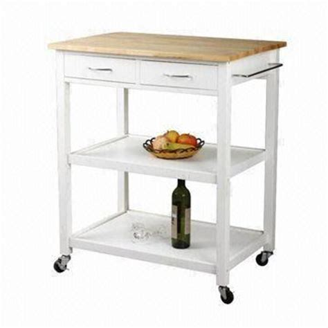 Kitchen Trolley, Made in Pine Wood with Drawers and Shelves   Global Sources