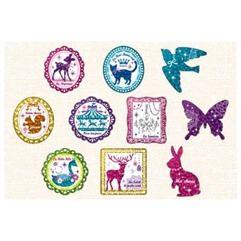 Sale Shimmer Waves shimmery animal colorful sticker sack by mind wave
