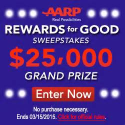 aarp rewards for good sweepstakes 25 000 grand prize common sense with money - Aarp Rewards For Good Sweepstakes