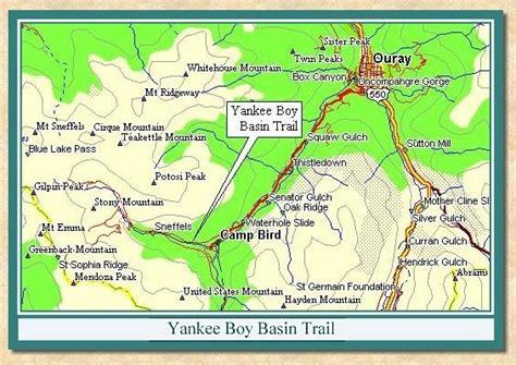 colorado road report map yankee boy basin trail views