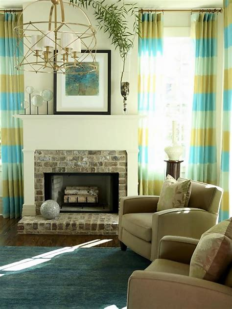 living room window treatments hgtv