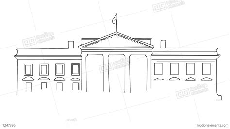 how to draw the white house white house 01 handdraw stock animation 1247396