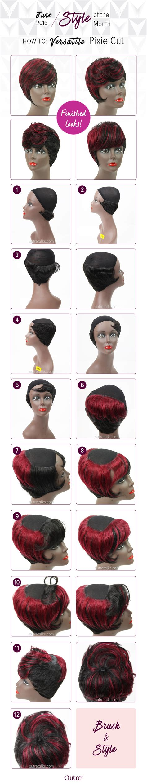 pixie cut tutorial step by step step by step pixie cut hairstylegalleries com