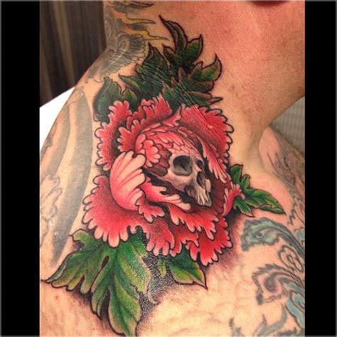 lotus tattoo jeff gogue jeff gogue peony skull flower tattoos by jeff gogue