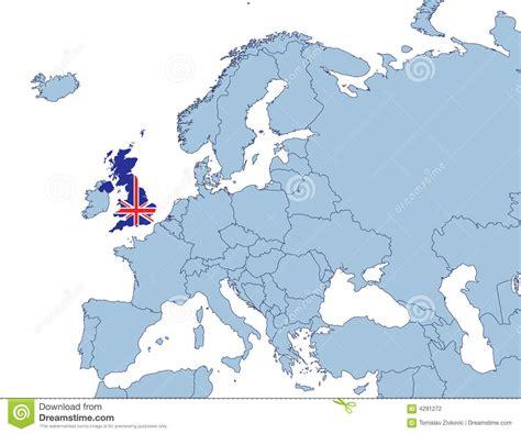 europe and uk map uk on europe map stock photography image 4291272