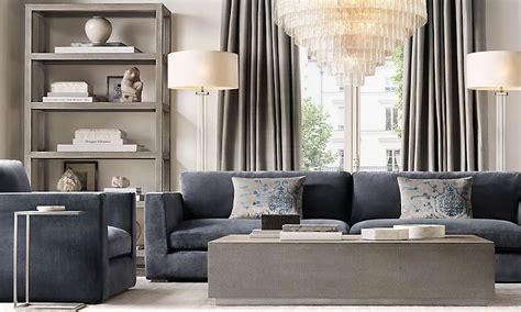 restoration hardware living room design at modern home designs