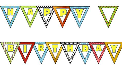 Bunting Flags Banner Happy Birthday Bulat Motif Mix story printables the big moon