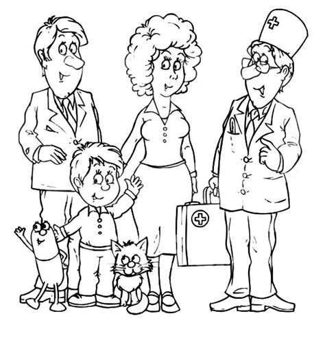 coloring pages of joint family doctor talking with a joint family coloring pages batch