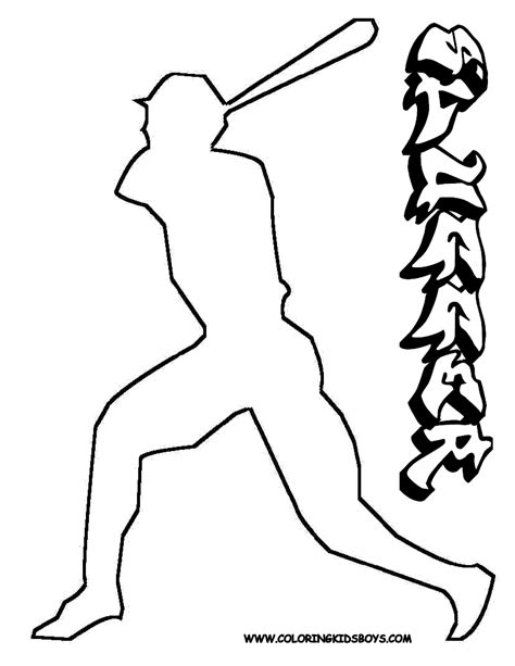 sporty coloring pages to print baseball baseball