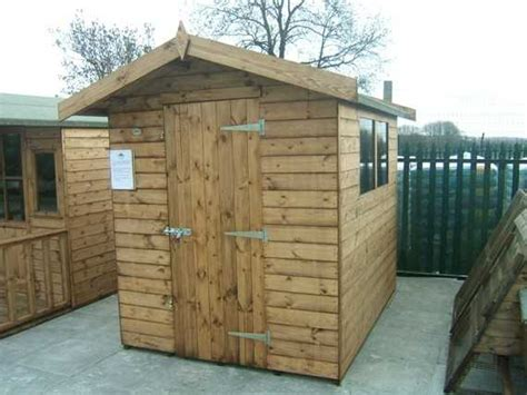 sectional garden buildings 8 x 6 apex garden shed smiths sectional buildings