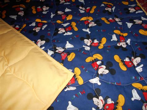 Mickey Mouse Comfort Blanket by Handmade Baby Quilt Mickey Mouse Baby Infant Size Quilt