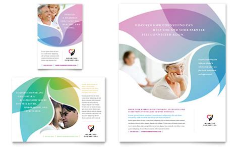 marriage counseling flyer amp ad template design