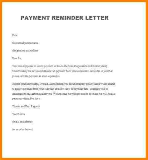 Strong Payment Reminder Letter Format 9 friendly payment reminder letter sles sales slip template