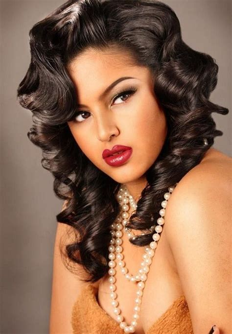 pin curls for black women pin curls curly hairstyles pinterest curls and pin curls