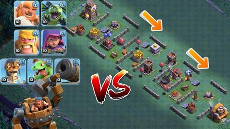 coc nazi layout alle truppen vs troll base clash of clans let s